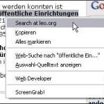 Leo Search für Firefox 1.5