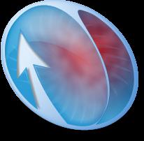 Blue-Red Compiz Fusion Logo